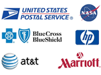 USPS, NASA, Blue Cross Blue Shield, HP, AT&T, Marriott